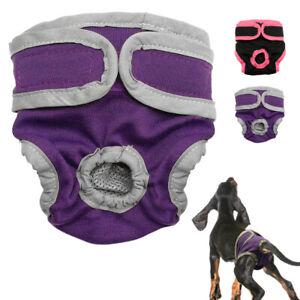 Cane Pantaloni Mutande Pannolini Igieniche per femmina cani Lavabili Viola S-XL