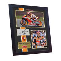 New MARC MARQUEZ MOTO GP photo print autograph signed Framed