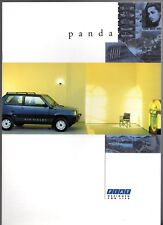 Fiat Panda 1991 UK Market Sales Brochure 750 L 1000 CL Super Sisley 4x4