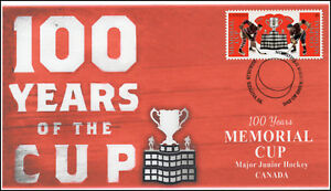 CA18-022, 2018, Memorial Cup, Pictorial, First Day Cover, Junior Hockey