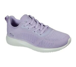 Skechers NEW Bobs Squad Breeze Way lavender lilac pastel fashion trainers 3-8