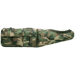 Sniper Gun Air Rifle Padded Case Bag Cover Paintball Airsoft Shooting Woodland