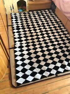 Real genuine natural sheep Fur blanket Carpet  Patchwork sheep Skin Leather rug