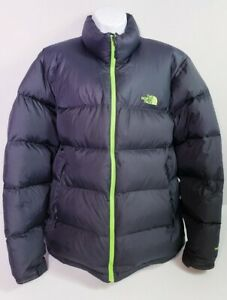 The North Face Men's 700 Goose Down Dark Gray Puffer Full Zip Jacket! Size XL