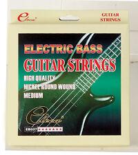 ELECA Electric Bass Strings, Medium Nickel Round Wound, EB607