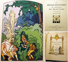 CURIOSA/BELLES HISTOIRES DU SEIGNEUR DE BRANTOME/ED CRES/1924/1700 EX/HEMARD ILL