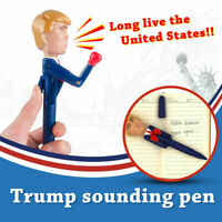 Funny Donald Trump Pen Stress Relief Talking Boxing Pen Trump's Real Voice Toy