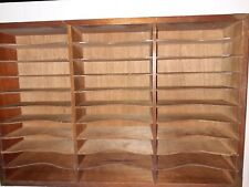 Cassette Tape Holder  - Wall Mounted - Holds 30 Cassettes - Brown Wood