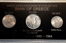 GREECE - 1960 20 Drachmai,1963 30 Drachmai,1964 30 Drachmai in case !!