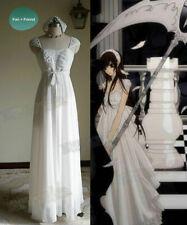 Vampire Knight Cosplay Yuki Cross / Yuki Kuran Pure White Maxi dress No necklace
