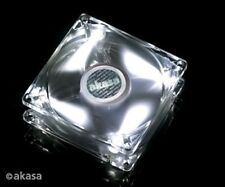 Akasa 80mm Crystal Clear Frame/ Bright White Fan
