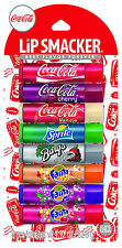 LIP SMACKER^*8pc Party Pack FANTA+COCA COLA ORIGINAL&VANILLA Soda Balm NEW STYLE