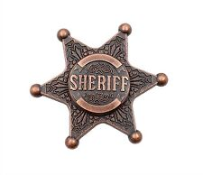 VINTAGE SHERIFF BADGE High Speed Metal Fidget Hand Spinner Stress Relief Toys
