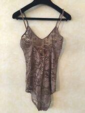 Free People Lace Bodysuit Intimates Dark Beige Small $68
