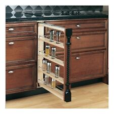 Rev A Shelf Pull Out Kitchen Counter Adjustable Organizer Storage Spice Cabinet