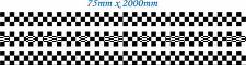 75mm x 6 METER CHEQUERED - STRIPE - CAR -  VAN - TRAILER - BODY PANEL- BONNET
