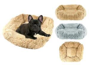 Dog Nesting Bed Cat Puppy Pet Soft Mattress Cushion Non-Slip Beige Grey Medium