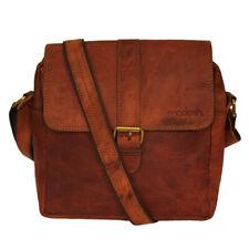 Mens Leather Crossbody Side Messenger Sling Bag Brown Shoulder New Satchel Purse
