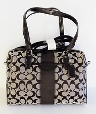 NWT Coach 28505 12CM Sign. Nancy Satchel ~ Black/Gary