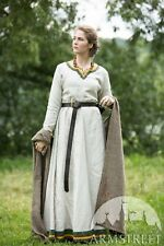 "20% DISCOUNT! Viking Dress ""Ingrid the Hearthkeeper"" for LARP, natural color"