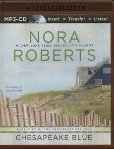 CHESAPEAKE BLUE (Chesapeake Bay 4) Nora Roberts ~ MP-3 CD Audiobook (9 hours)