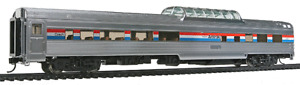 Walthers Proto Amtrak (AMTK) Budd Dome Coach, Phase 3, Lighted, 920-14029