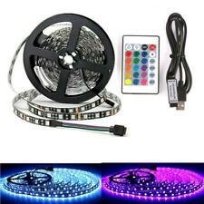 UK LED STRIP LIGHTS 1/2/3/4/5M 5V 5050 RGB REMOTE DIMMABLE USB TV BACK LIGHTING