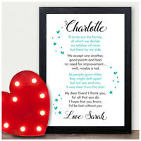 personalised best friend friendship plaque sign birthday christmas gifts present - What To Get A Friend For Christmas