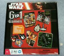 NIB DISNEY STAR WARS 6 IN 1 GAMES BATTLE MATCHING, GALACTIC SPIN, STARSHIP RACE