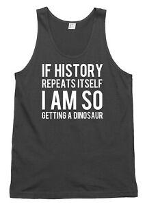 I Am So Getting A Dinosaur Funny Mens Womens Vest Tank Top