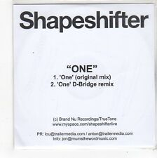 (FN808) Shapeshifter, One - DJ CD
