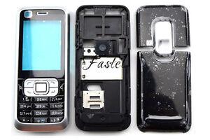 For Nokia 6120c 6120 classic New Full Bezel Housing Cover Case Keypad Black New