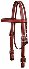 Showman American Made BURGUNDY Leather Western Draft Horse Size Headstall! TACK!
