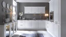 Klassische Einbauküche, Küchenzeile  Weiss Matt  MDF Fronten erweiterbar