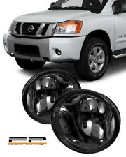 For 2004-2014 Nissan Titan Smoke Replacement Fog Light Housing Assembly Pair