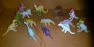 Set 17pcs Mini Assorted vivid Dinosaurs Toys Plastic Dinosaur Figures for Kids