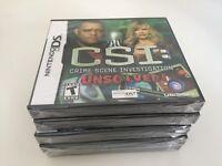 CSI: Crime Scene Investigation - Unsolved (Nintendo DS, 2010) DS NEW