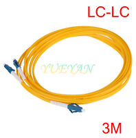 Dual LC to LC Fiber Patch Cord Jumper Cable SM Duplex Single Mode 3M 2.0mm