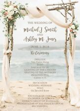 Wedding Invitations Beach Arbor Beach Destination Wedding Programs