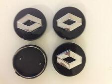 4 jantes en alliage noir set center caps set visage 60mm Clip 57mm pour renault