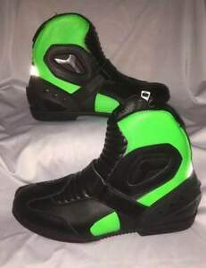 Leather High MPX Mens Short Motorbike Motorcycle Racing Sports Shoes Boots