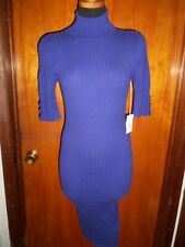 Victoria's Secret Moda International Purple Turtleneck Ribbed Sweater Dress M S