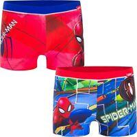 Costume da bagno bambino spiderman boxer pantaloncino bimbo mare piscina 3 4 6 8
