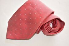 Men's Drake's Dots red Silk Neck Tie Made in England