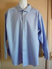 Men's Dress Shirt ck Calvin Klein Size Slim 20 34/36 Long Sleeve Blue