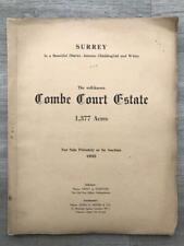 RARE 1935 Auction Catalogue Combe Court Estate Chiddingford Witley Surrey