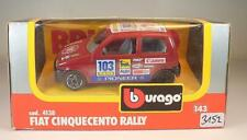 Bburago 1/43 Nr. 4138 Fiat Cinquecento Rally rot OVP #3152