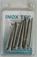 INOX TEC 8 viti autofilettanti testa piana svasata in acciaio misura 4,8x50 mm