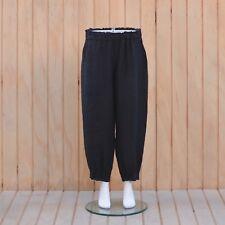 Plus Size 16 18 20 22 24 26 28 30 32 1X 2X 3X 4X Linen Trousers Lagenlook 9466
