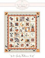 SPOOKY HALLOWEEN ROW OF THE MONTH QUILT PATTERN, From Bunny Hill Designs NEW
